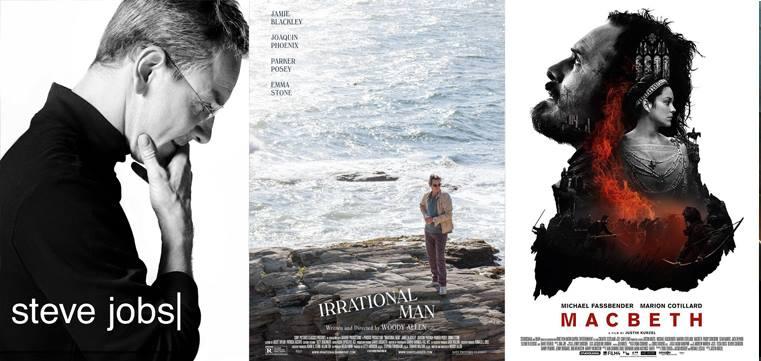 """Filmkritiken zu """"Steve Jobs"""", """"Irrational Man"""" und """"Macbeth"""""""