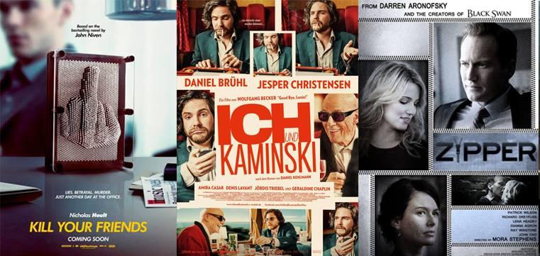 """Filmkritiken zu """"Kill Your Friends"""", """"Ich und Kaminski"""" und  """"Zipper"""""""